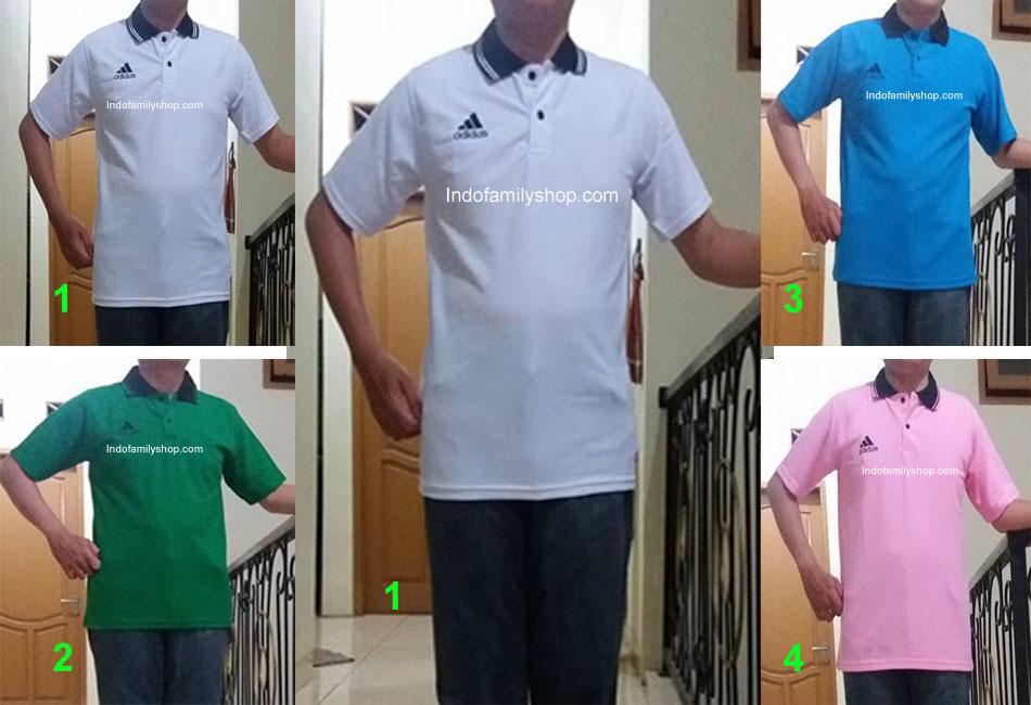 Baju Kaos Kerah Pria Dewasa Adidas 21 Xl