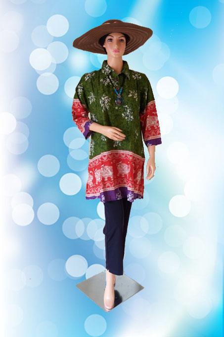 Batik Jumbo Hijau Depan