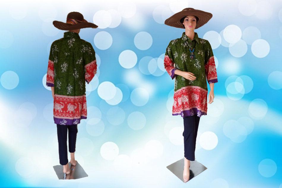 Batik Jumbo Hijau Full