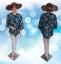 Blouse Batik Modern Bunga HIJAU TOSKA