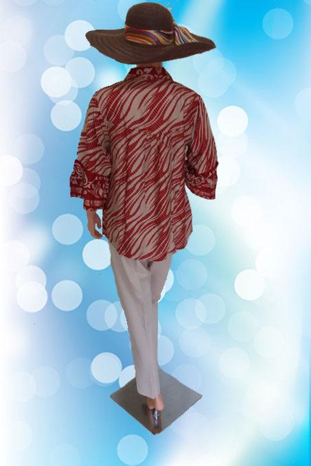 Batik Modern Krem (Belakang)