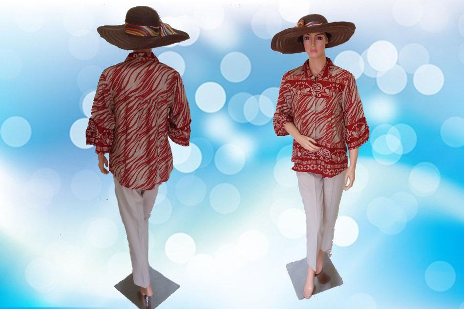 Batik Modern Krem Full