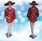 Blouse Batik Modern Bunga Merah