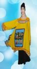 Blouse Motif Gajah (Kuning )-BMGK