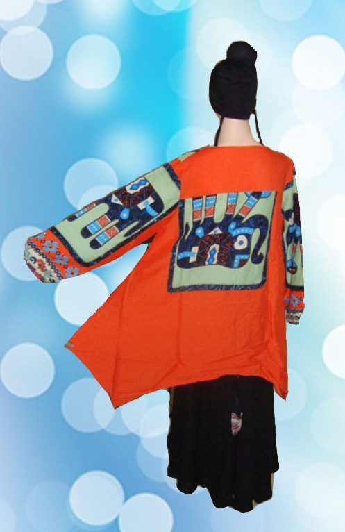 Blouse Motif Gajah Orange....