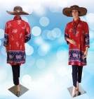 Blouse Batik Jumbo Merah