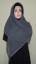 Hijab Kotak Mote Abu Abu