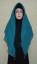 Hijab Kotak Mote Hijau Toska