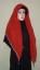 Hijab Kotak Mote Merah Bata