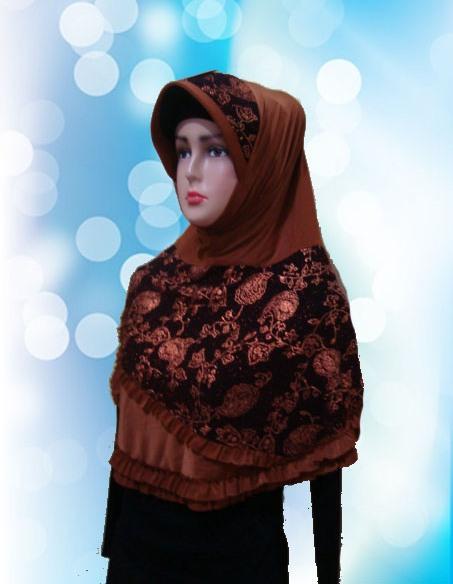 Hijab Instan Coklat Kunyit (DPN)