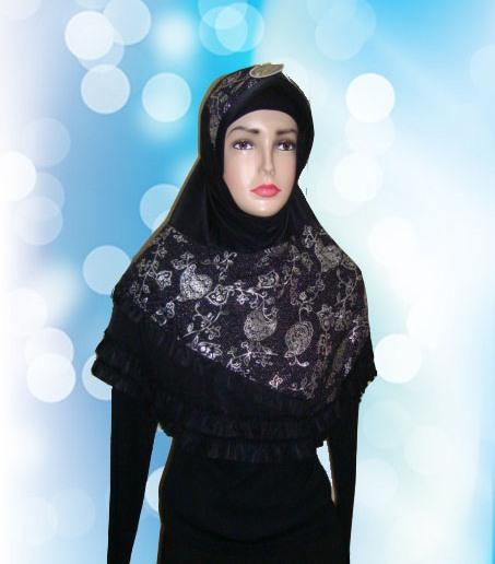 Hijab Instan Hitam (DPN)