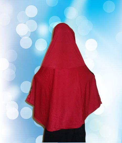 Hijab Instan Merah (BLK)