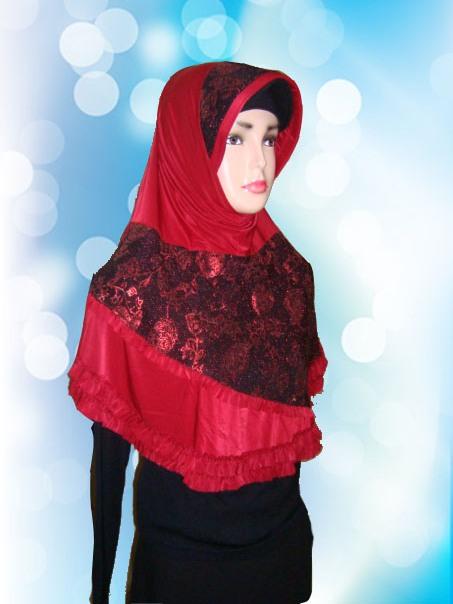 Hijab Instan Merah (DPP)