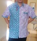Batik Kombinasi Hijau Ungu