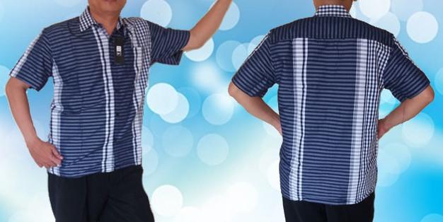 Baju Kemeja kerah Biru (Full )2