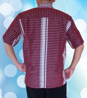 Baju Kemeja kerah Merah Belakang)2