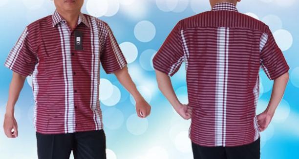 Baju Kemeja kerah Merah FUll
