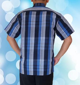 Kemeja Biru Tua muda Horizontal (Belakang )2