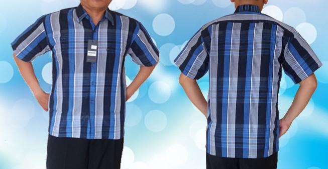 Kemeja Biru Tua muda Horizontal Full 2