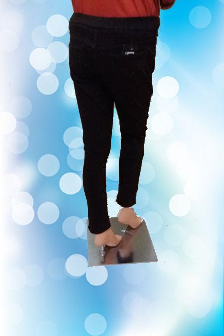 Leging Jeans Coklat Tua (Belakang)