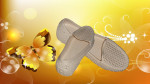 Sepatu Sandal karet Wanita Yumeida Krem Broken White