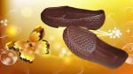 Sepatu Sandal Karet Wanita Coklat