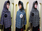 Hijab Instant Motif Bunga